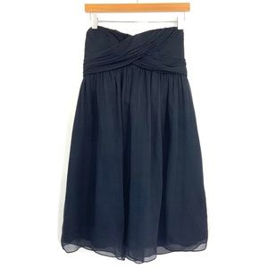 J CREW Navy Silk Strapless Dress Special Occasion